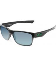 Oakley OO9189-04 TwoFace Polished Black - Jade Iridium Sunglasses