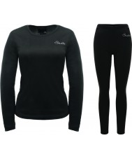 Dare2b Ladies Insulate Black Baselayer Set