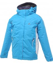 Dare2b DGP004-3CK034 Girls Locomote Hydro Blue Ski Jacket - 34 inches
