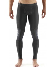 Skins Mens RY400 Graphite and Blue Compression Long Tights