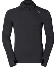 Odlo Mens Black Baselayer Top with Facemask