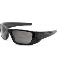 Oakley OO9096-01 Fuel Cell Polished Black - Warm Grey Sunglasses