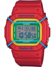 Casio BGD-501-4BER Ladies Baby-G Red Resin World Time Watch