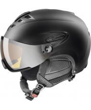 Uvex 5661622205 Hlmt 300 Black Ski Helmet with LaserGold Visor - 55-58cm