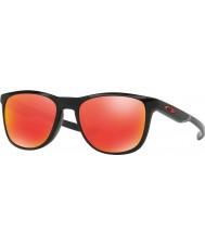 Oakley OO9340-02 Trillbe X Polished Black - Ruby Iridium Sunglasses