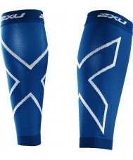 2XU UA2595B-RYB-L PWX Royal Blue Recovery Compression Calf Sleeves - Size L