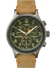 Timex TW4B04400 Mens Expedition Scout Tan Leather Chronograph Watch