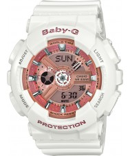 Casio BA-110-7A1ER Ladies Baby-G World Time White Resin Strap Watch