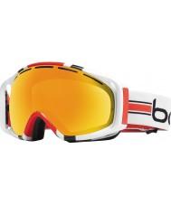 Bolle 20975 Gravity White Stripes - Citrus Gold Ski Goggles