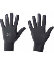 2XU UQ1918H-BLK-L-XL Black Running Gloves - Size L-XL
