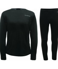 Dare2b DMU305-80090-XXL Mens Insulate Black Baselayer Set - Size XXL