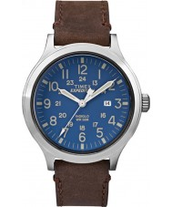 Timex TW4B06400 Mens Expedition Scout Brown Leather Strap Watch