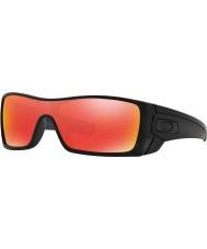 Oakley OO9101-38 Batwolf Matte Black Ink - Ruby Iridium Sunglasses