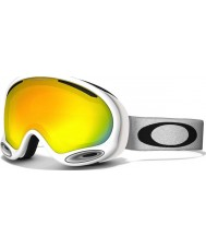 Oakley 59-568 A-Frame 2.0 Polished White - Fire Iridium Ski Goggles