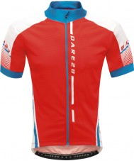 Dare2b DMT311-65740-XS Mens Signature Tour Fiery Red Jersey - Size XS