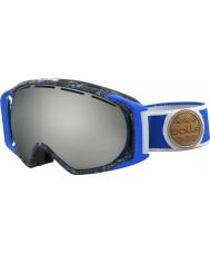 Bolle 21455 Gravity Blue and Grey Splatter - Black Chrome Ski Goggles