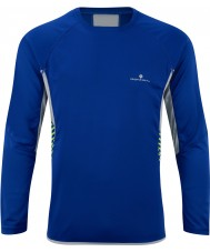 Ronhill RH05258-00047-XL Mens Advance Cobalt Clay Long Sleeve Crew - Size XL