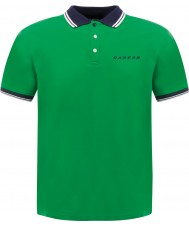 Dare2b Mens Under Rule Trek Green Polo Shirt
