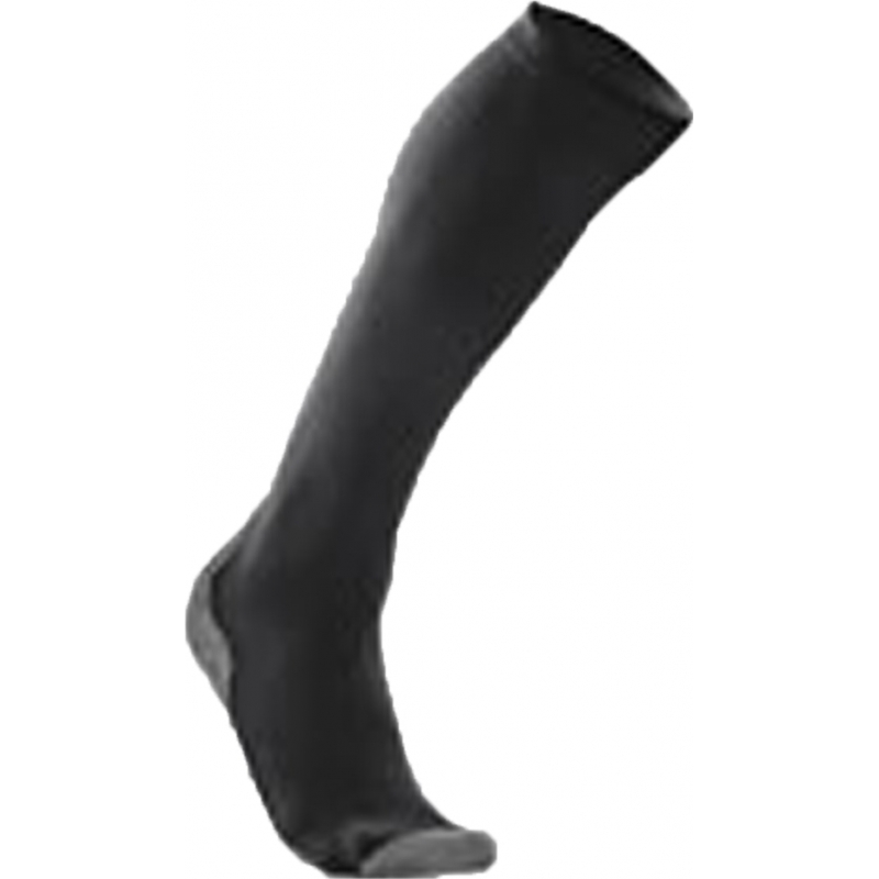 2XU WA2443E-TIT-BLK-L Ladies PWX Titanium Black Compression Performance Run Socks - Size XS