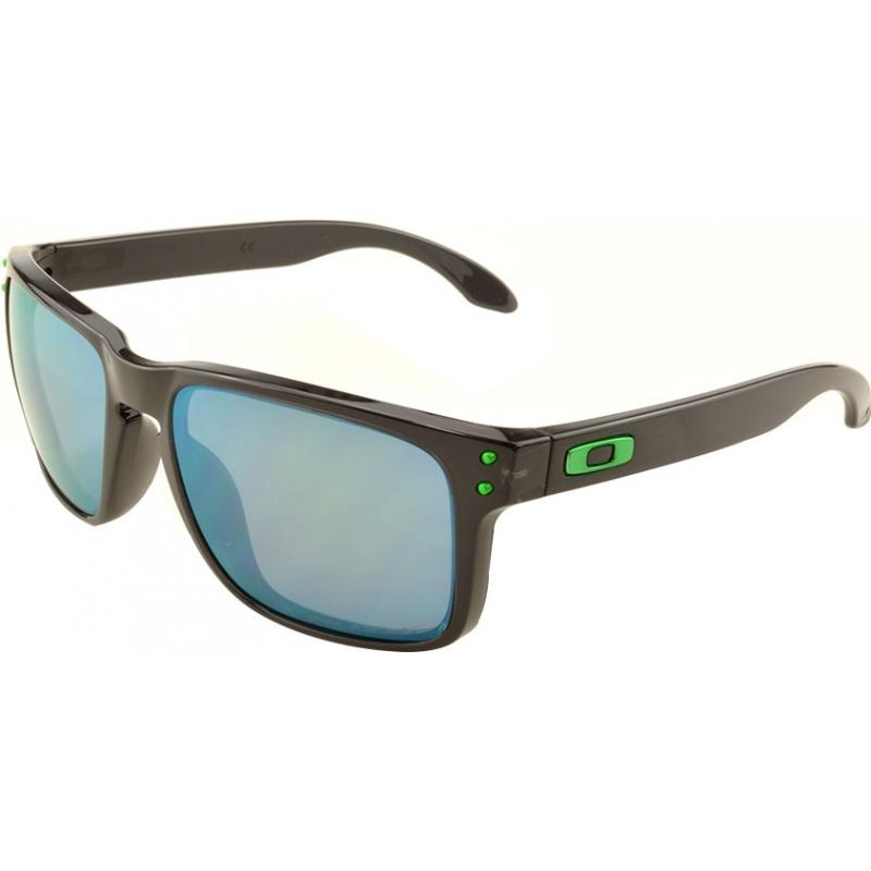 26150684be Oakley OO9102-69 OO9102-69 Holbrook Black Ink - Jade Iridium Polarized  Sunglasses