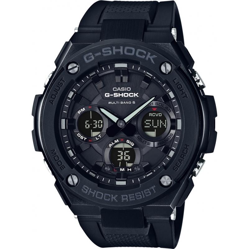 Casio GST-W100G-1BER Мужские G-SHOCK радиоуправляемые солнечный черные часы