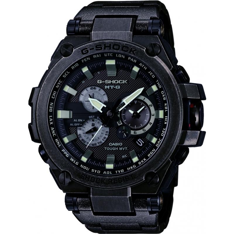 fdf4fb15f6 Casio Mens G-Shock Radio Controled Solar Powered Black Watch MTG-S1000V-1AER