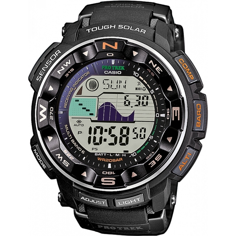 Casio PRW-2500-1ER Mens pro trek sensor de triple difícil relógio solar,