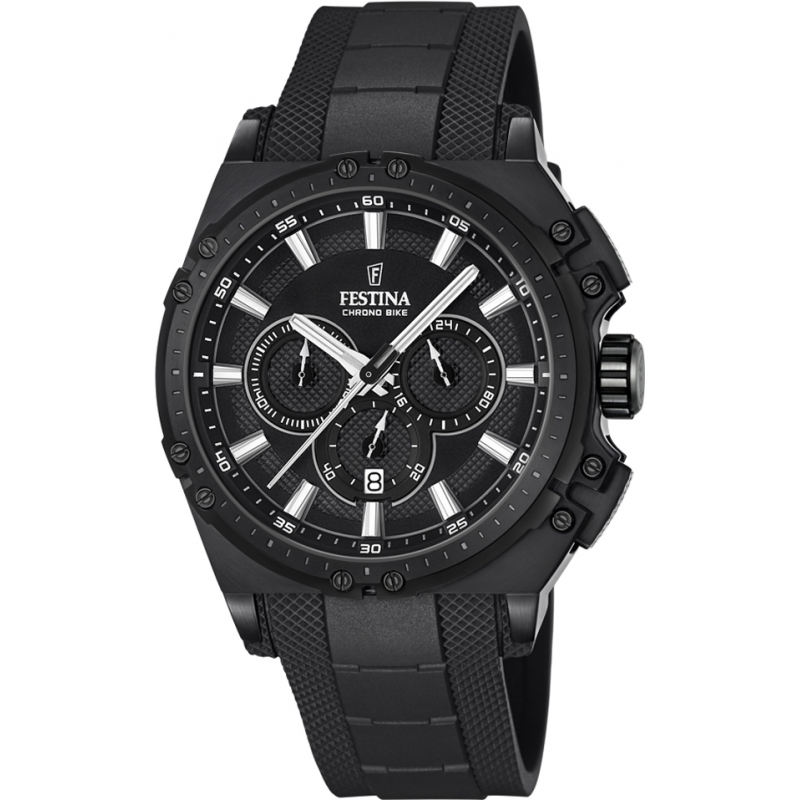 Festina F16971-1 Mens Chrono Bike Black Rubber Chronograph Watch