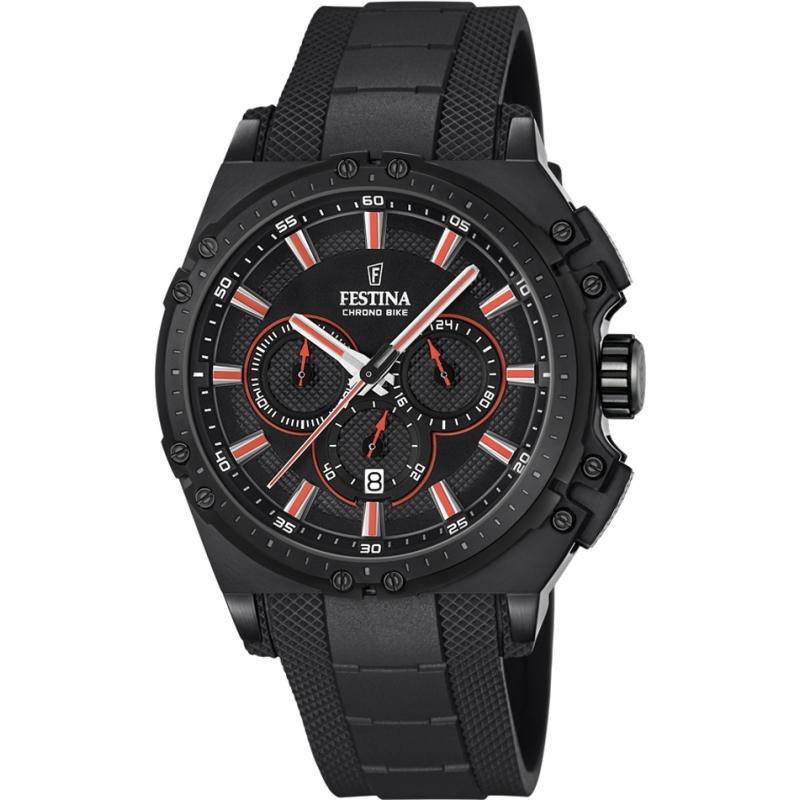 Festina F16971-4 Mens Chrono Bike Black Rubber Chronograph Watch