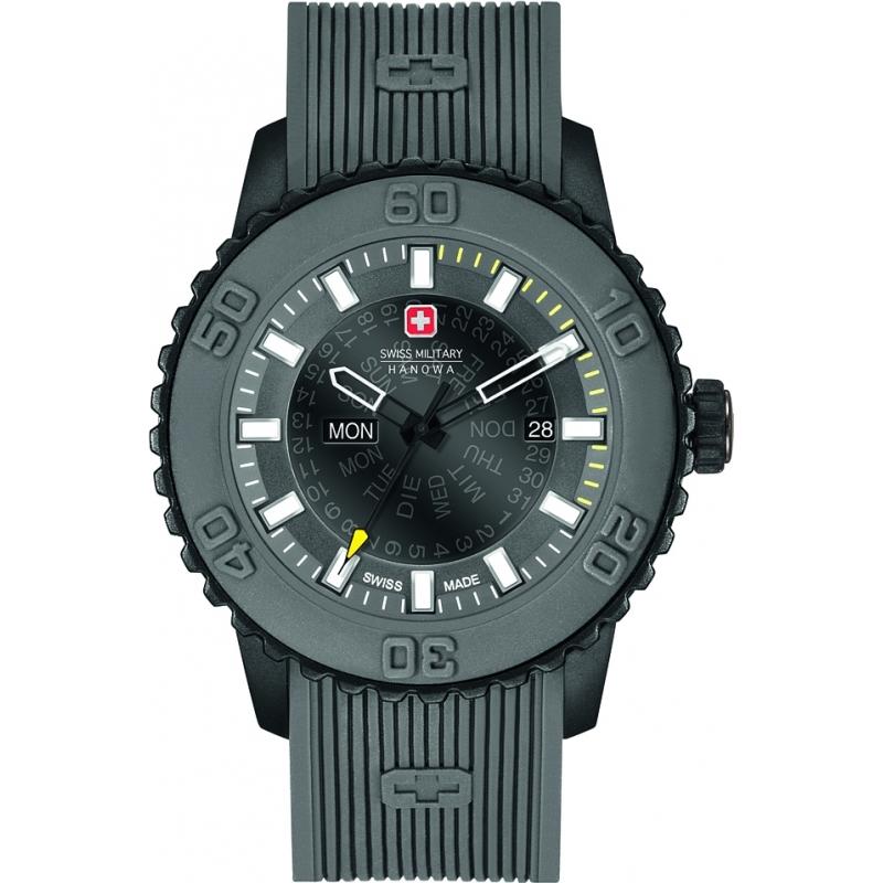 Swiss Military 6-4281-27-007-30 メンズトワイライトグレーシリコーンストラップ時計