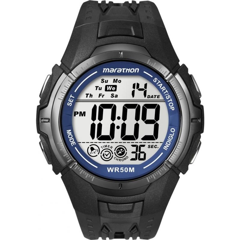 e8f15a3d3c9f Timex T5K359 Reloj para hombre del deporte maratón negro