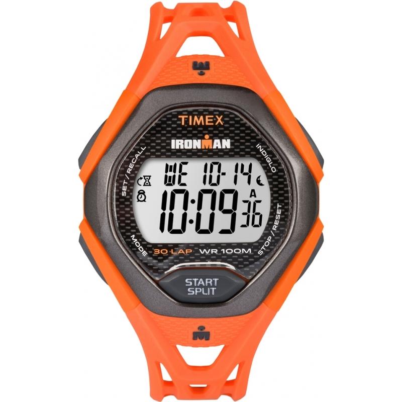 ffa6358d41a7 Timex TW5M10500 Reloj para hombre correa de resina de color naranja  elegante ironman